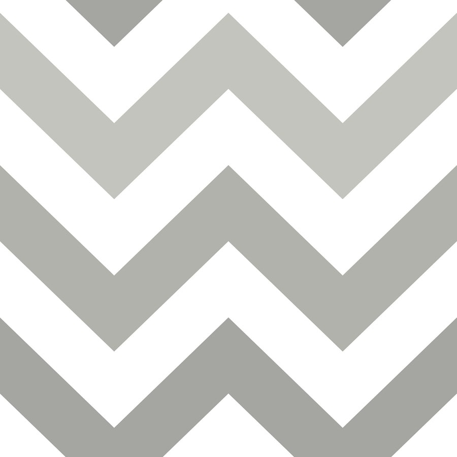Shop nuwallpaper 30 8 sq ft grey vinyl geometric peel and for Paintable peel n stick wallpaper