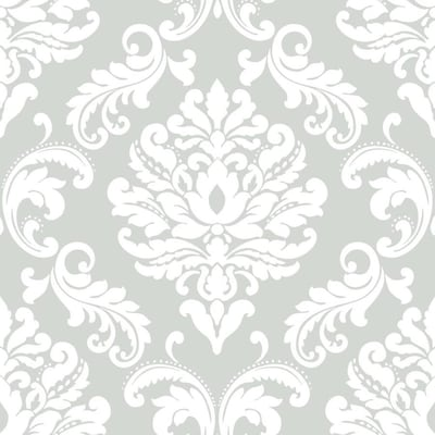 Peel And Stick Damask Wallpaper At Lowes Com