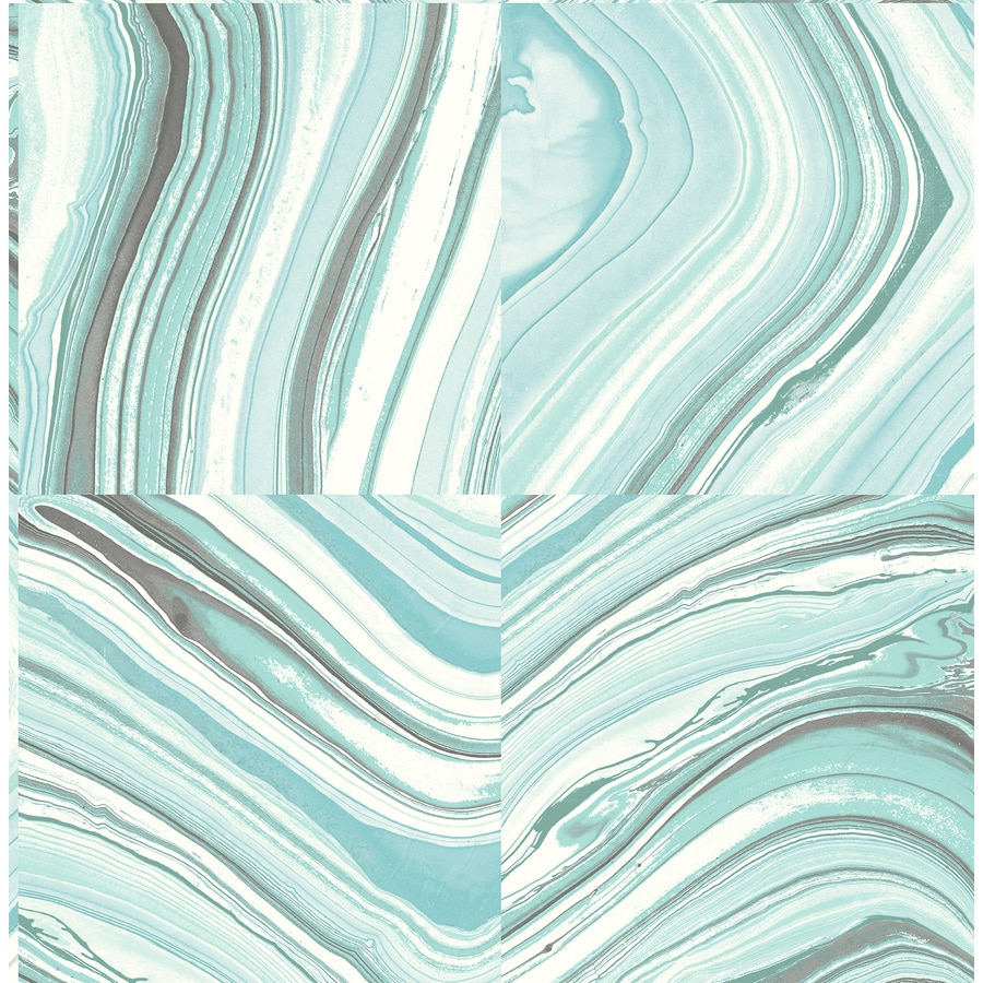 Shop nuwallpaper peel and stick wallpaper turquoise vinyl for Paintable peel n stick wallpaper