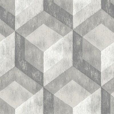 Nuwallpaper Peel And Stick Wallpaper 30 8 Sq Ft Grey Vinyl