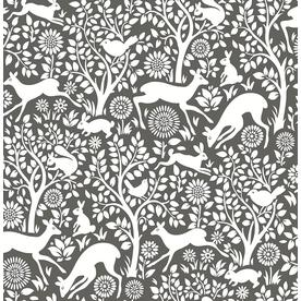 A - Street Prints Mirabelle Meadow Animals Wallpaper