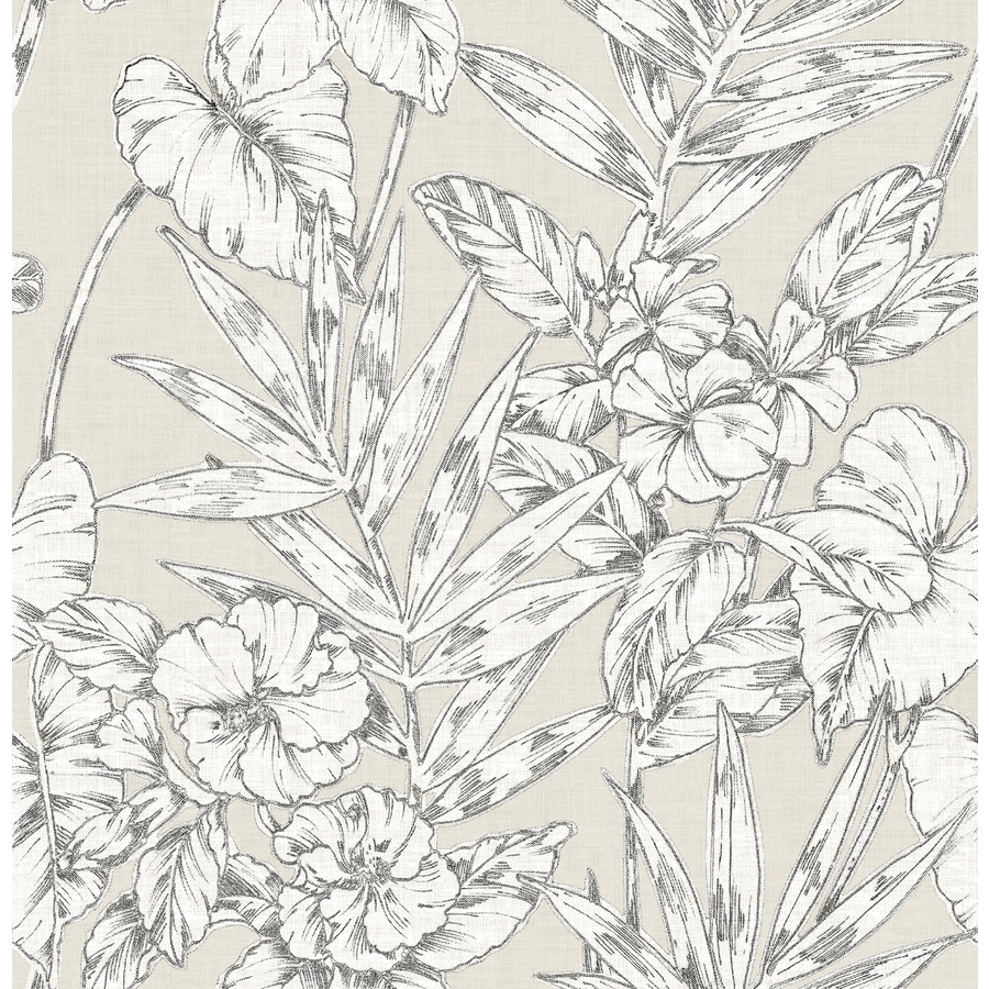 Brewster Wallcovering Solstice 56.4-sq ft Beige Non-Woven Ivy/Vines  Wallpaper