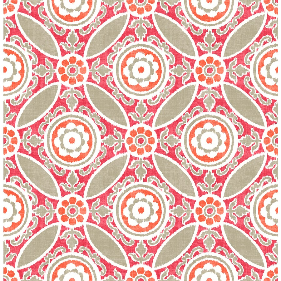 Brewster Wallcovering Solstice 56.4-sq ft Pink Non-Woven Floral  Wallpaper