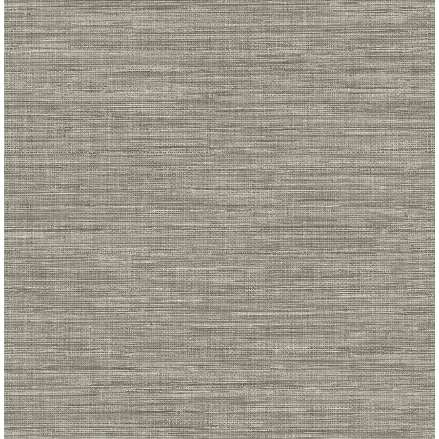 Silver Grasscloth Wallpaper: Brewster Wallcovering Solstice 56.4-sq Ft Grey Non-Woven