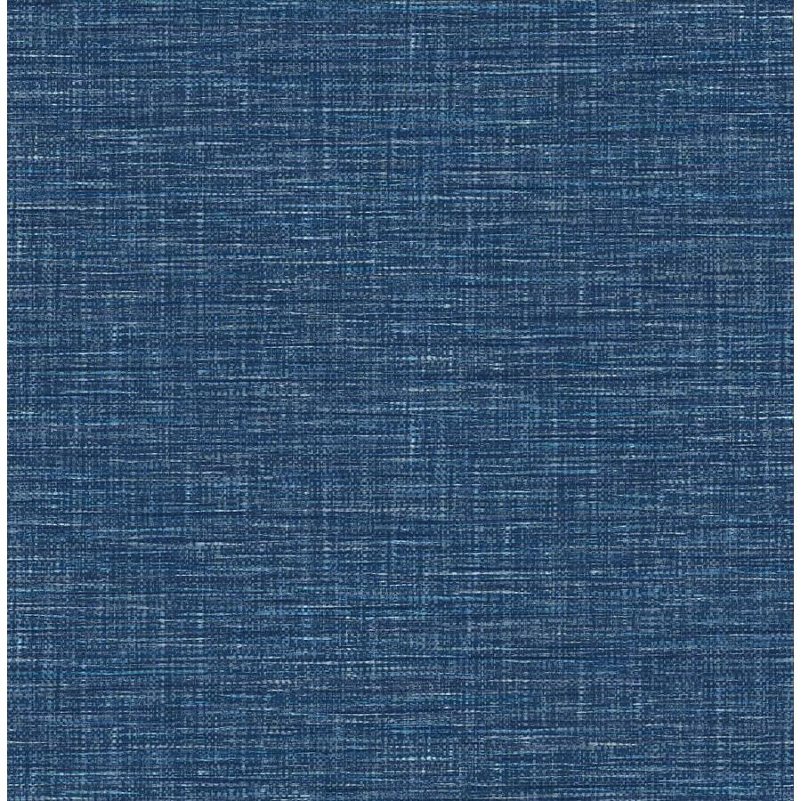 Brewster Wallcovering Exhale Denim Faux Grasscloth Wallpaper