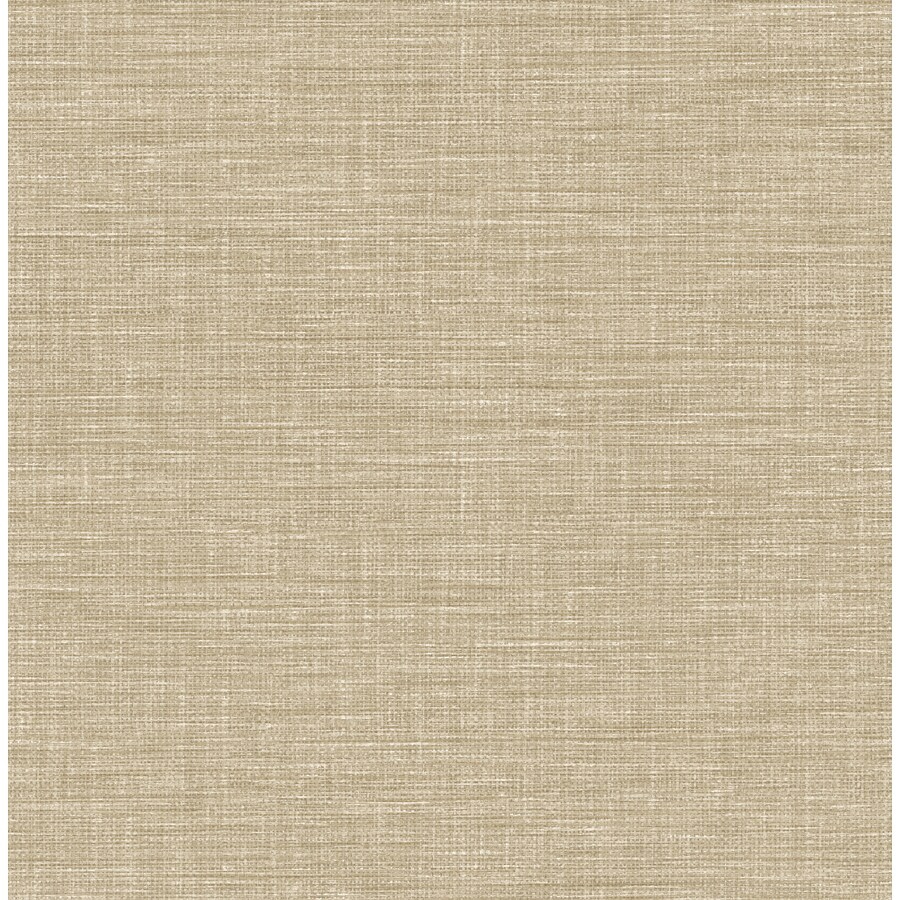 York Wallcoverings Taupe Grasscloth Strippable Non Woven: Brewster Wallcovering Solstice 56.4-sq Ft Taupe Non-Woven