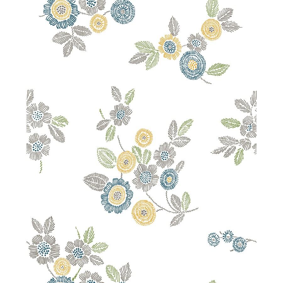 Brewster Wallcovering Malaga Grey Floral Wallpaper