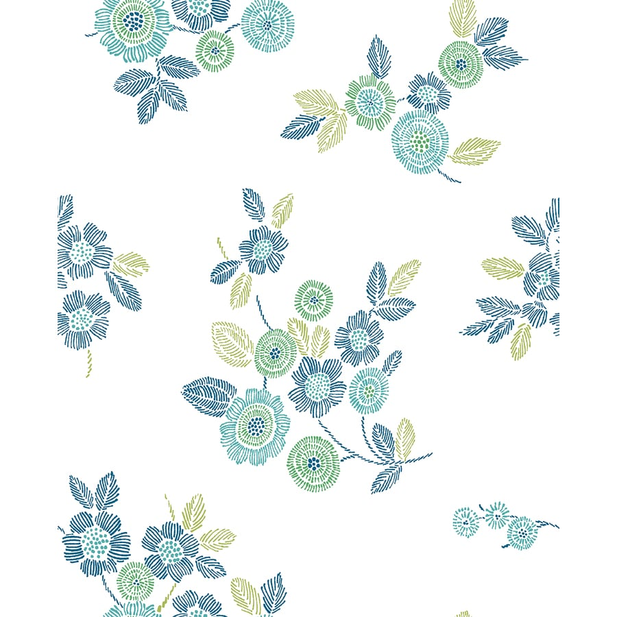 Brewster Wallcovering Malaga Green Floral Wallpaper