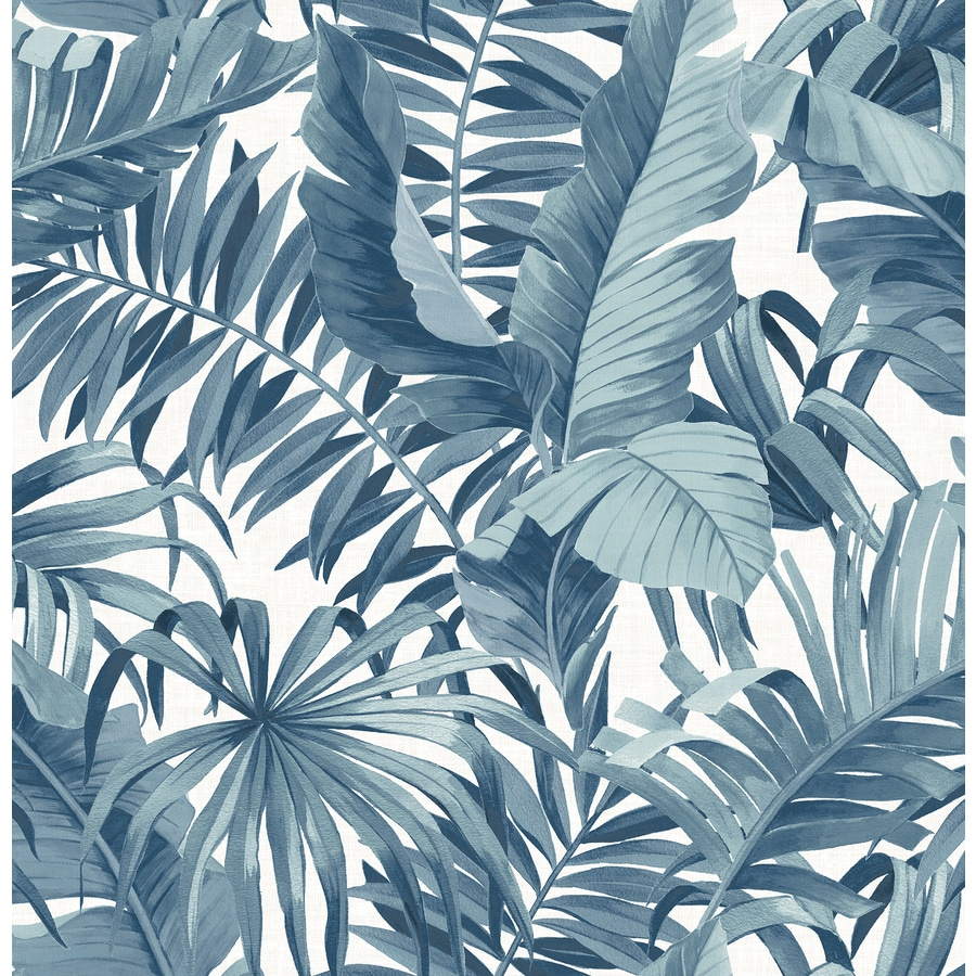Brewster Wallcovering Solstice 56.4-sq ft Navy Non-Woven Ivy/Vines  Wallpaper