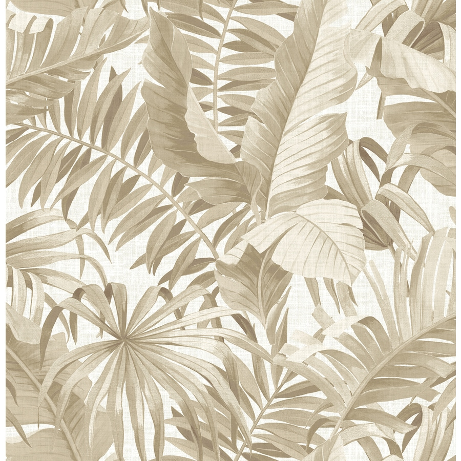 Brewster Wallcovering Alfresco Taupe Palm Leaf Wallpaper