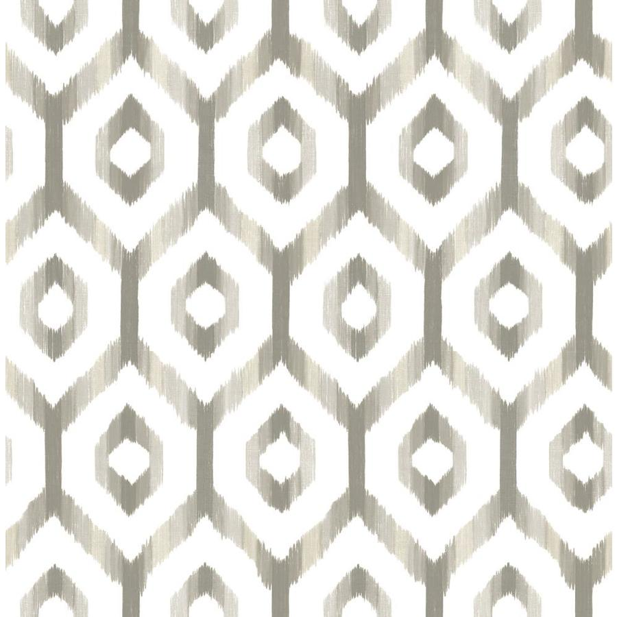 Brewster Wallcovering Solstice 56.4-sq ft Grey Non-Woven Geometric  Wallpaper