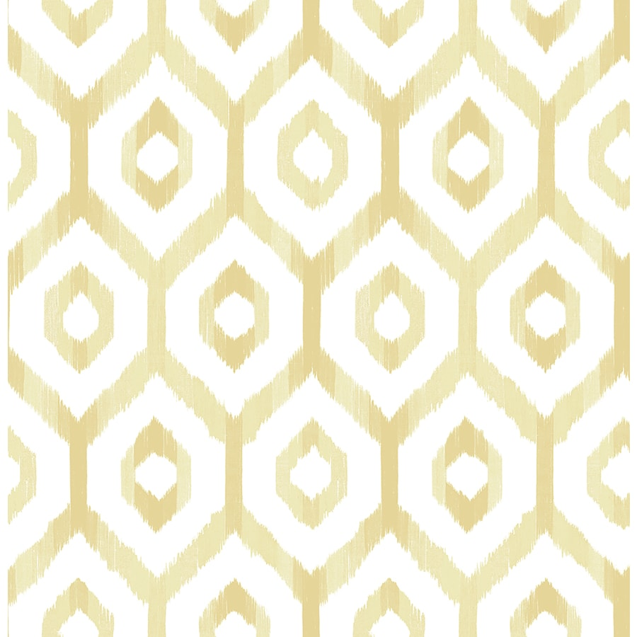 Brewster Wallcovering Lucia Yellow Diamond Wallpaper