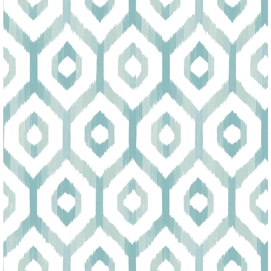 Brewster Wallcovering Lucia Teal Diamond Wallpaper