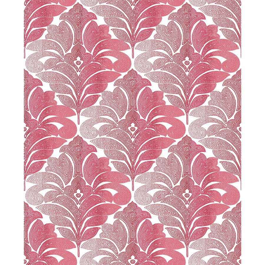 Brewster Wallcovering Balangan Red Damask Wallpaper
