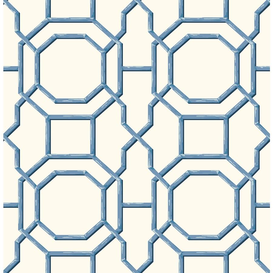Brewster Wallcovering Summer Blue Trellis Wallpaper