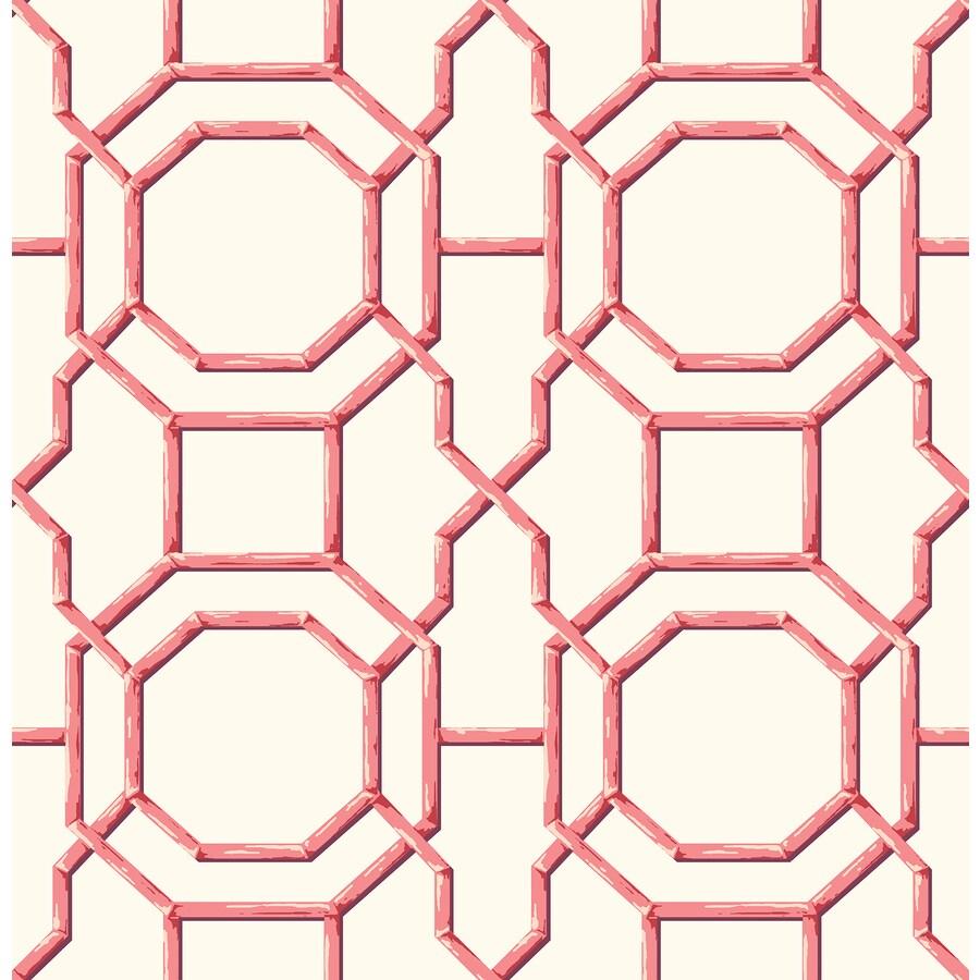 Brewster Wallcovering Summer Coral Trellis Wallpaper