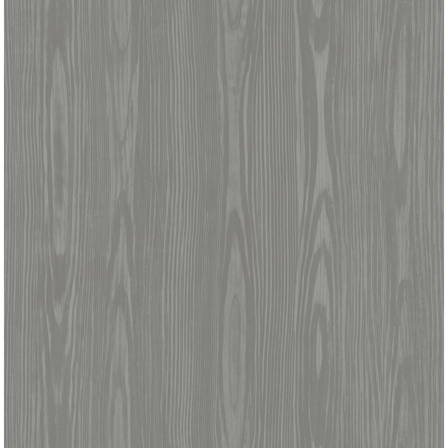 Brewster Wallcovering Illusion Grey Faux Wood Wallpaper
