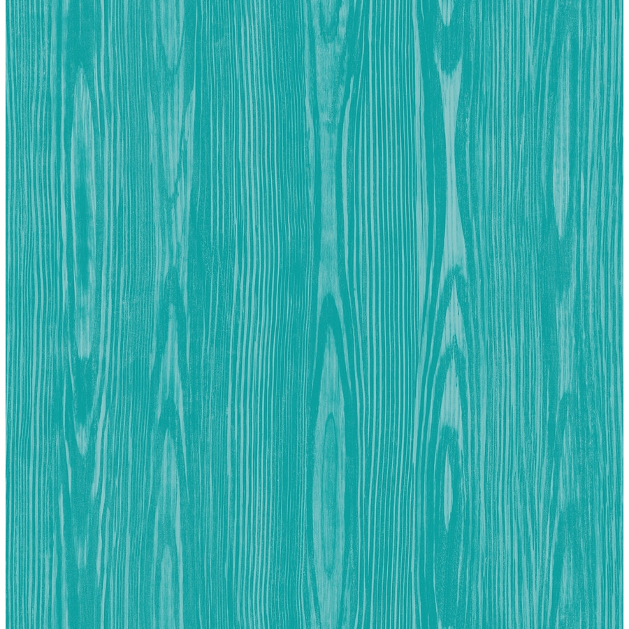 Brewster Wallcovering Illusion Aqua Faux Wood Wallpaper