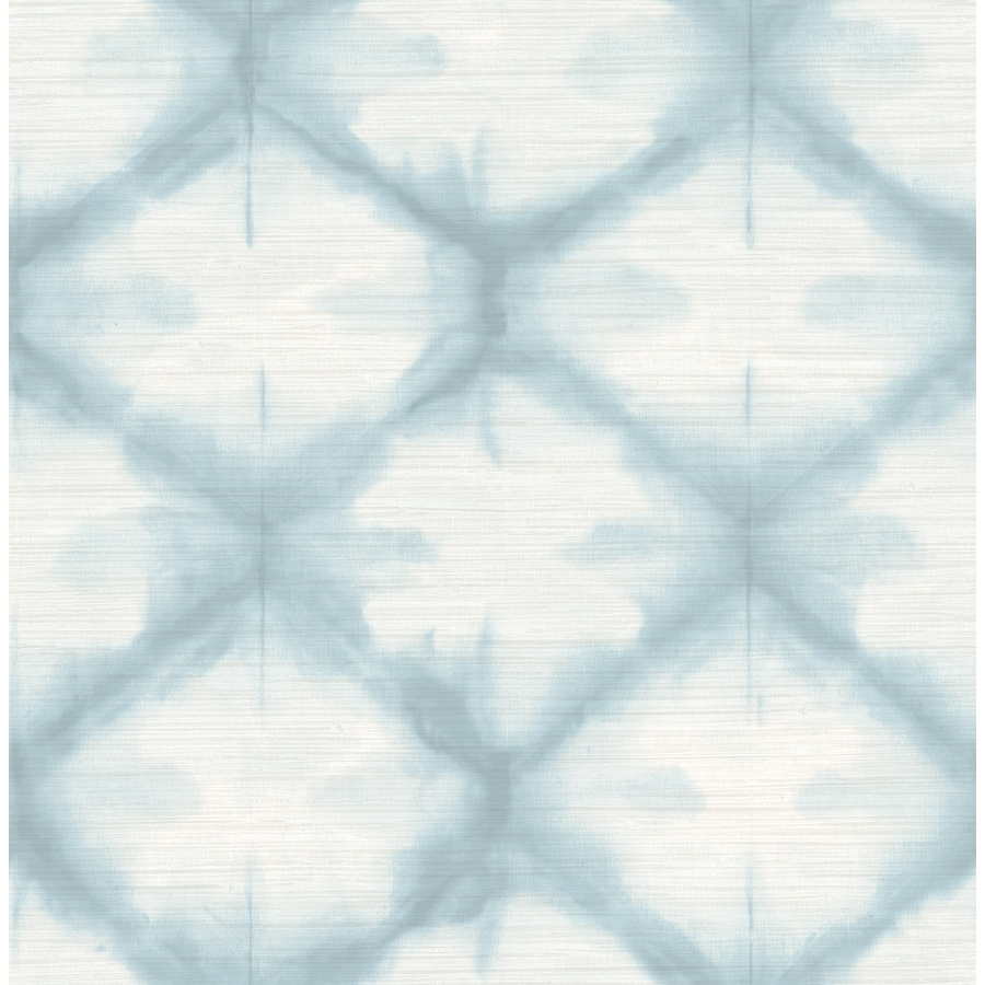 Brewster Wallcovering Zanzibar Blue Shibori Wallpaper
