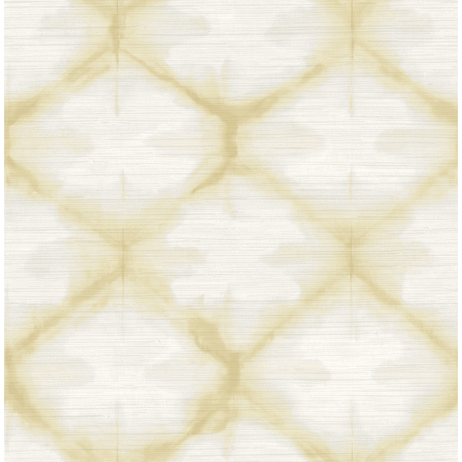 Brewster Wallcovering Solstice 56.4-sq ft Gold Non-Woven Geometric  Wallpaper