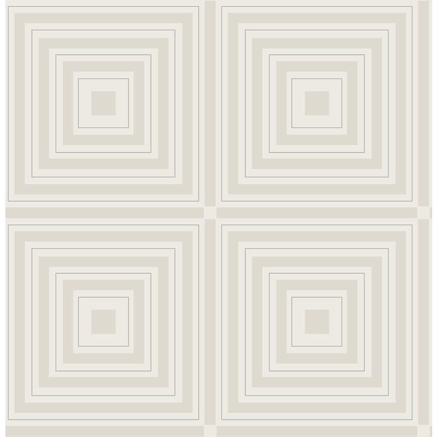 Brewster Wallcovering Luminous Silver Geometric Wallpaper
