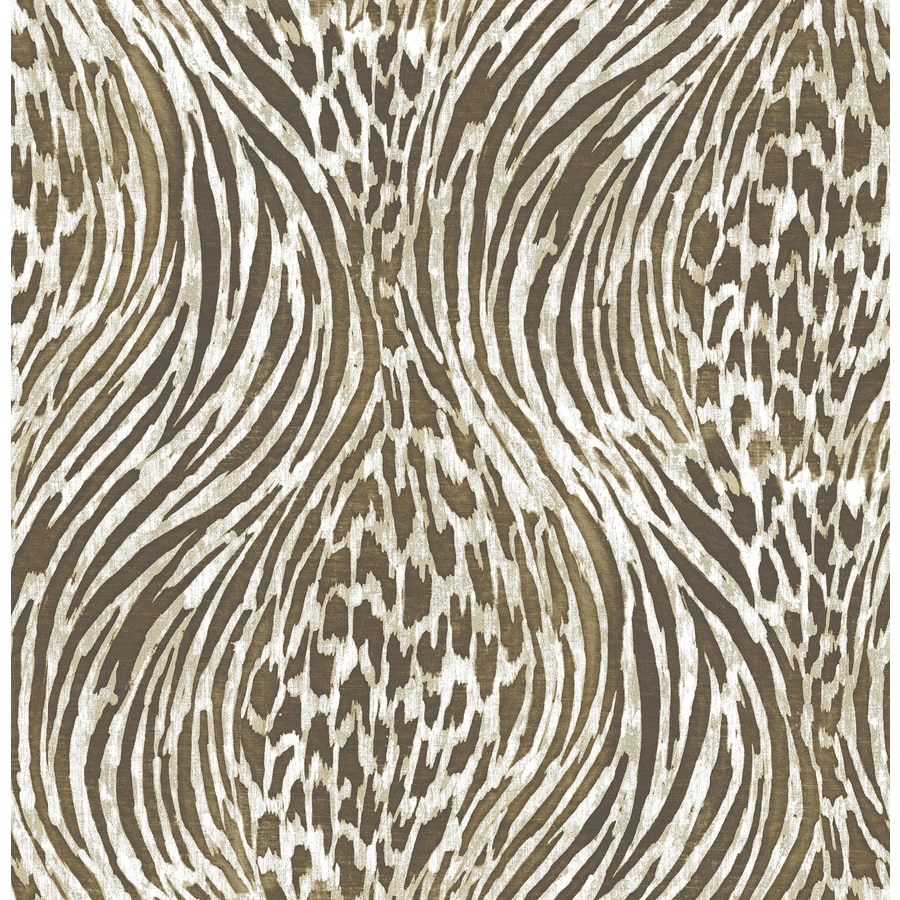 Brewster Wallcovering Moonlight 56.4-sq ft Brown Non-Woven Tribal  Wallpaper