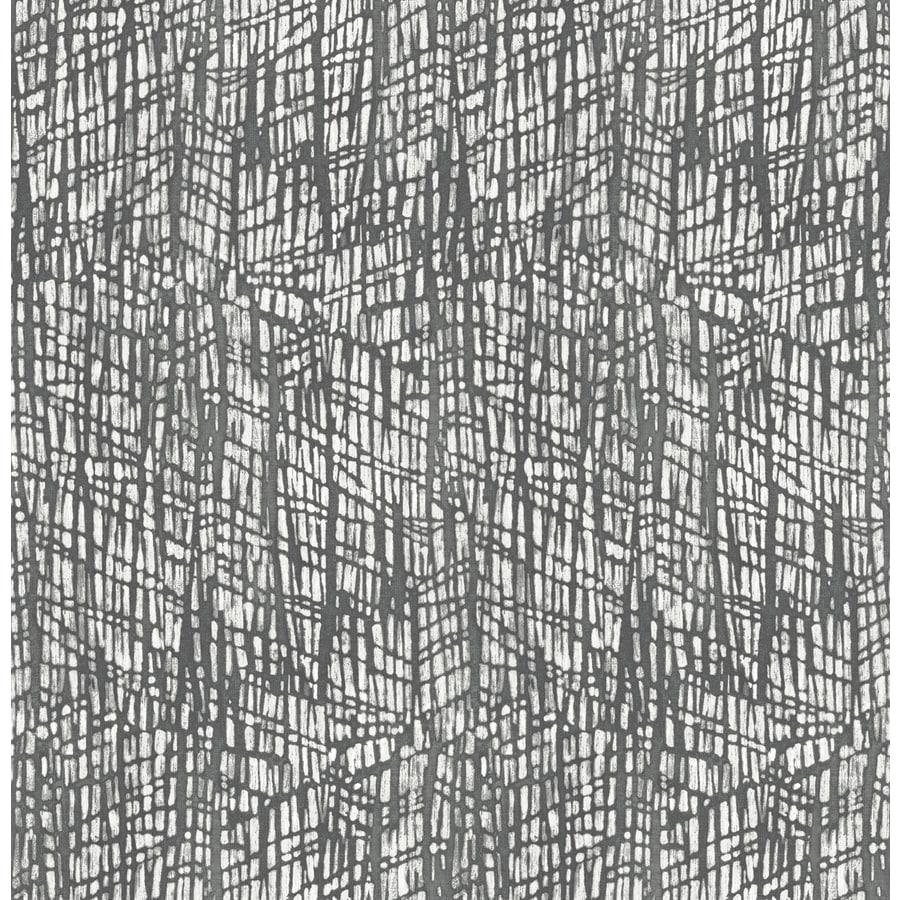 Brewster Wallcovering Shimmer Grey Abstract Texture Wallpaper