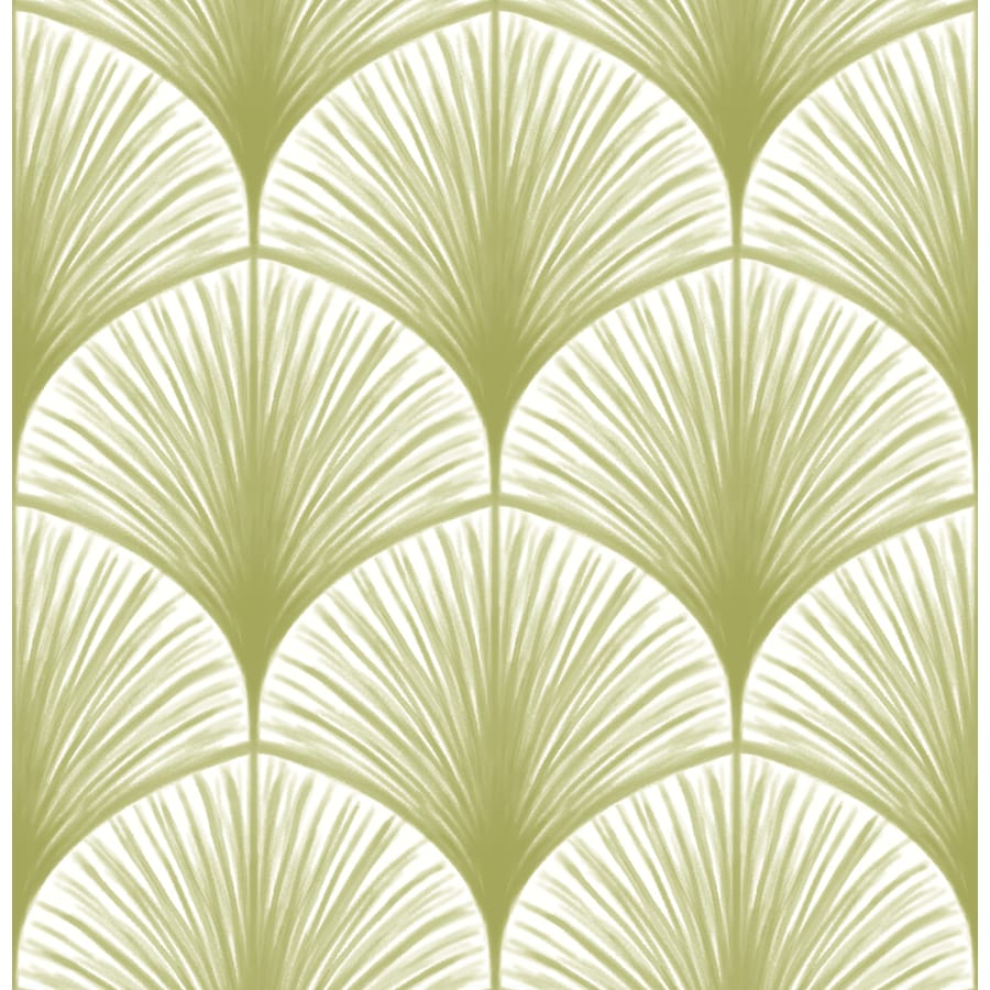 Brewster Wallcovering Moonlight 56.4-sq ft Green Non-Woven Ivy/Vines  Wallpaper