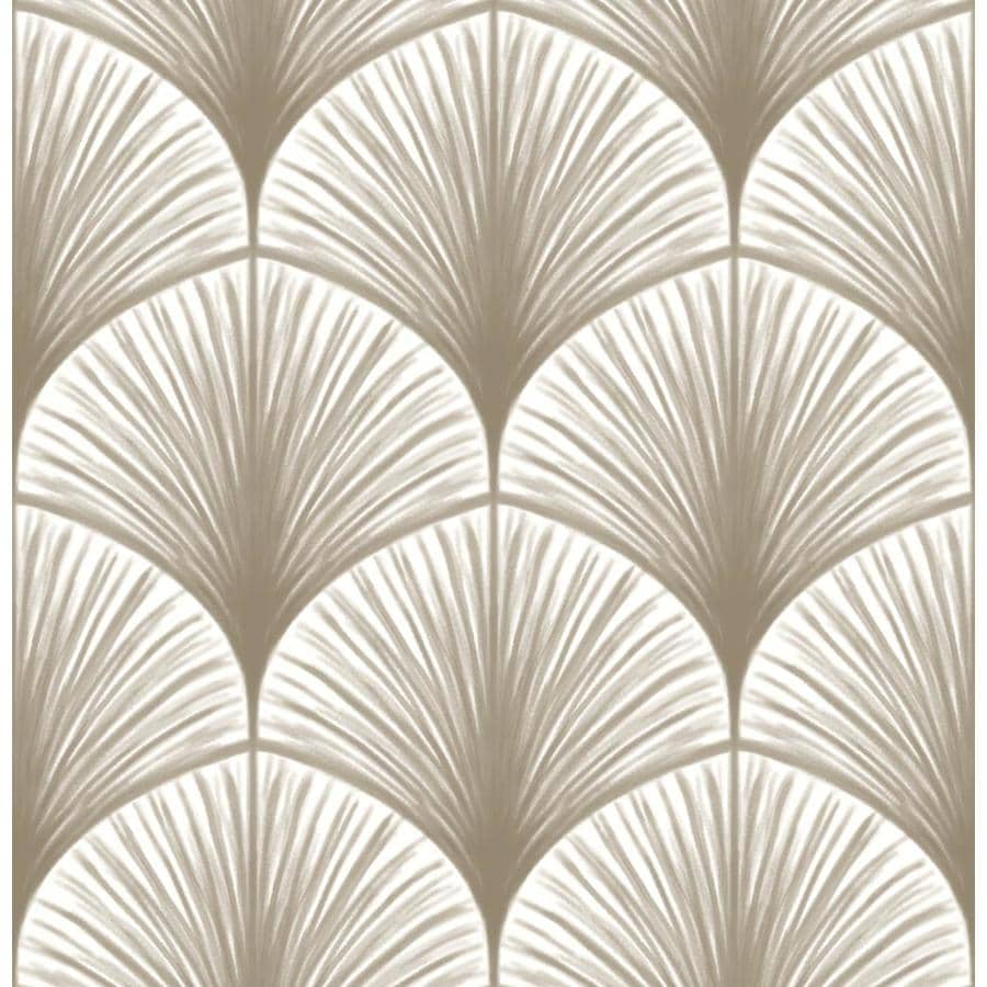 Brewster Wallcovering Dusk Taupe Frond Wallpaper