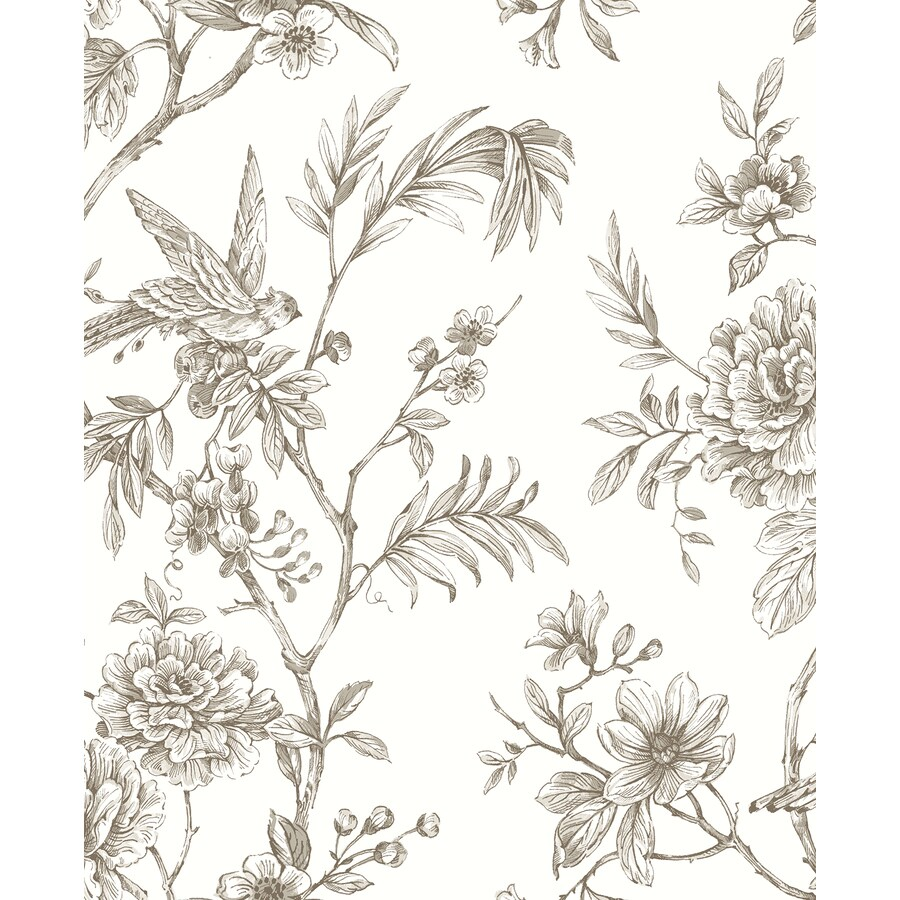 Brewster Wallcovering Moonlight 56.4-sq ft Taupe Non-Woven Trail  Wallpaper