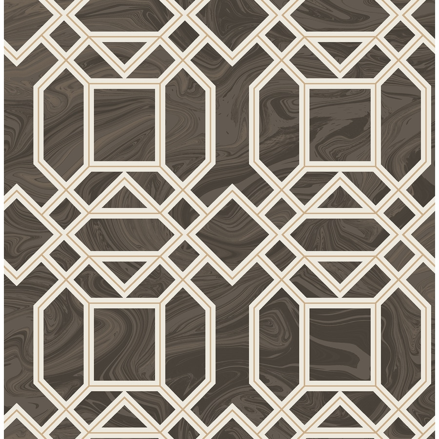 Brewster Wallcovering Daphne Brown Trellis Wallpaper