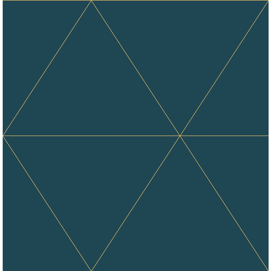 Brewster Wallcovering Twilight Teal Geometric Wallpaper