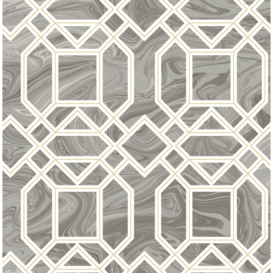 Brewster Wallcovering Moonlight 56.4-sq ft Grey Non-Woven Geometric  Wallpaper