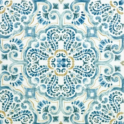 floorpops blue vinyl tile at lowes com