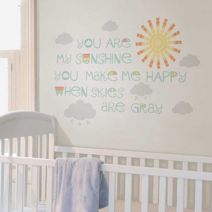 Wallpops Sunshine Wall Wish In The Wall Decals Department At Lowes Com
