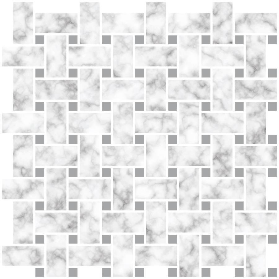 - InHome Basketweave Carrara Peel And Stick Backsplash Tiles In The