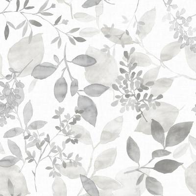 Nuwallpaper 30 75 Sq Ft Gray Vinyl Ivy Vines Wallpaper At