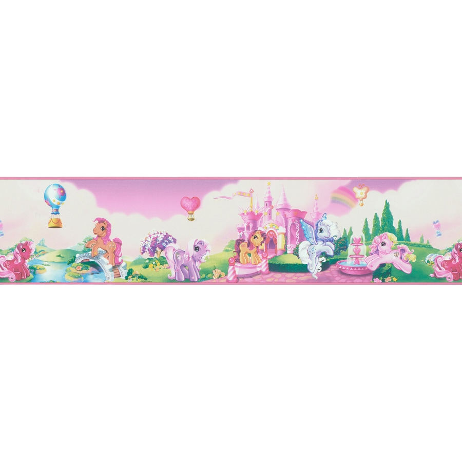 Shop brewster wallcovering 5 my little pony land self for Wallpaper and borders