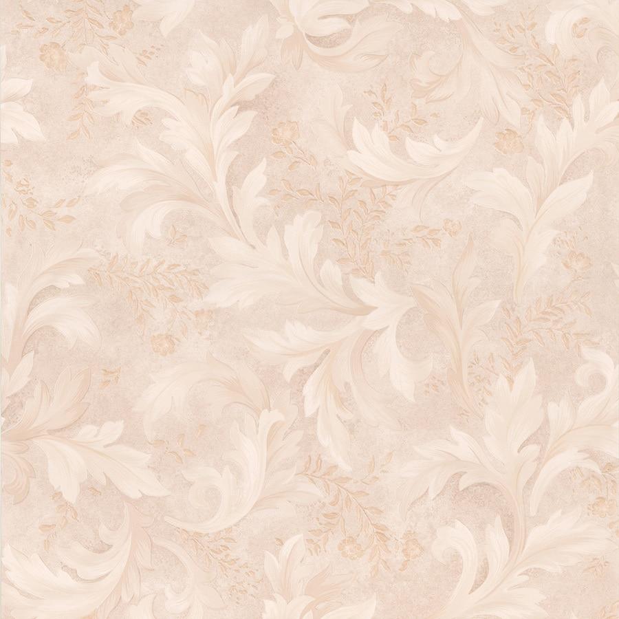 Brewster Wallcovering Kitchen and Bath Resource III Beige Vinyl Ivy/Vines Wallpaper