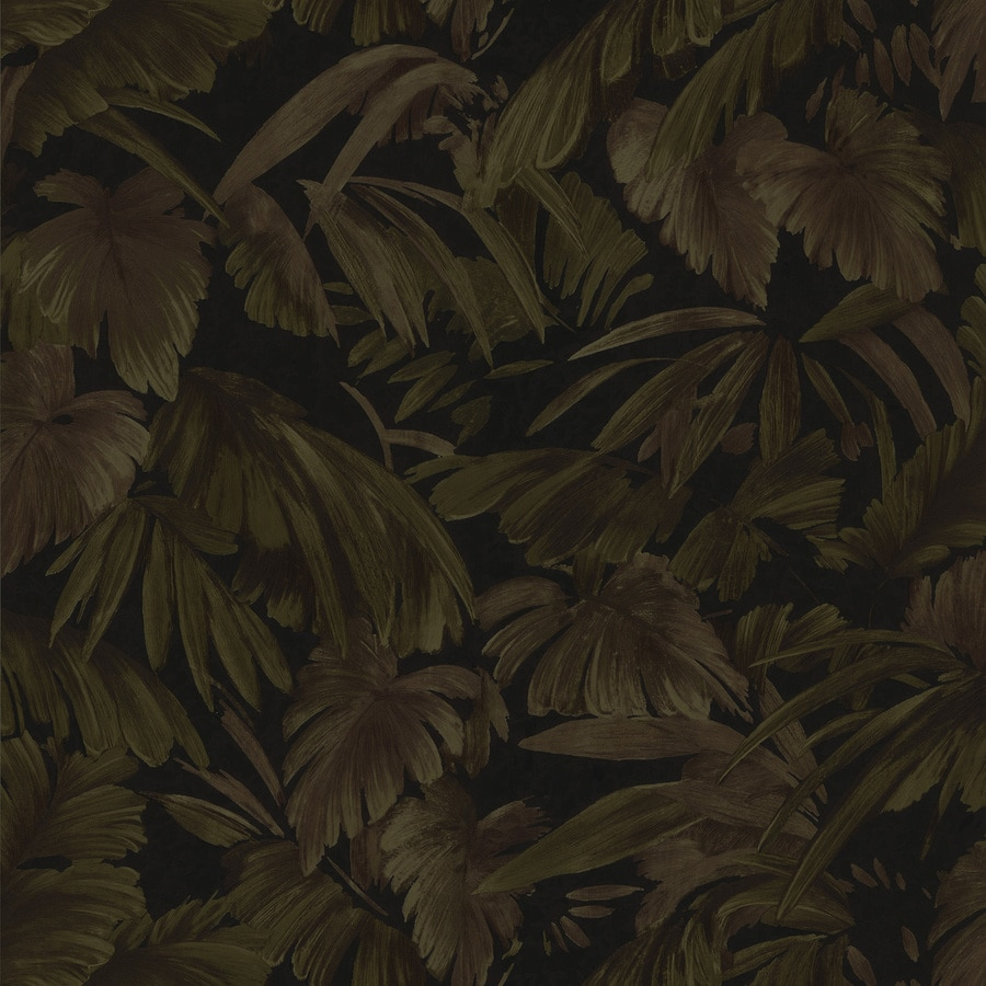 Brewster Wallcovering Black Textured Ivy/Vines Wallpaper