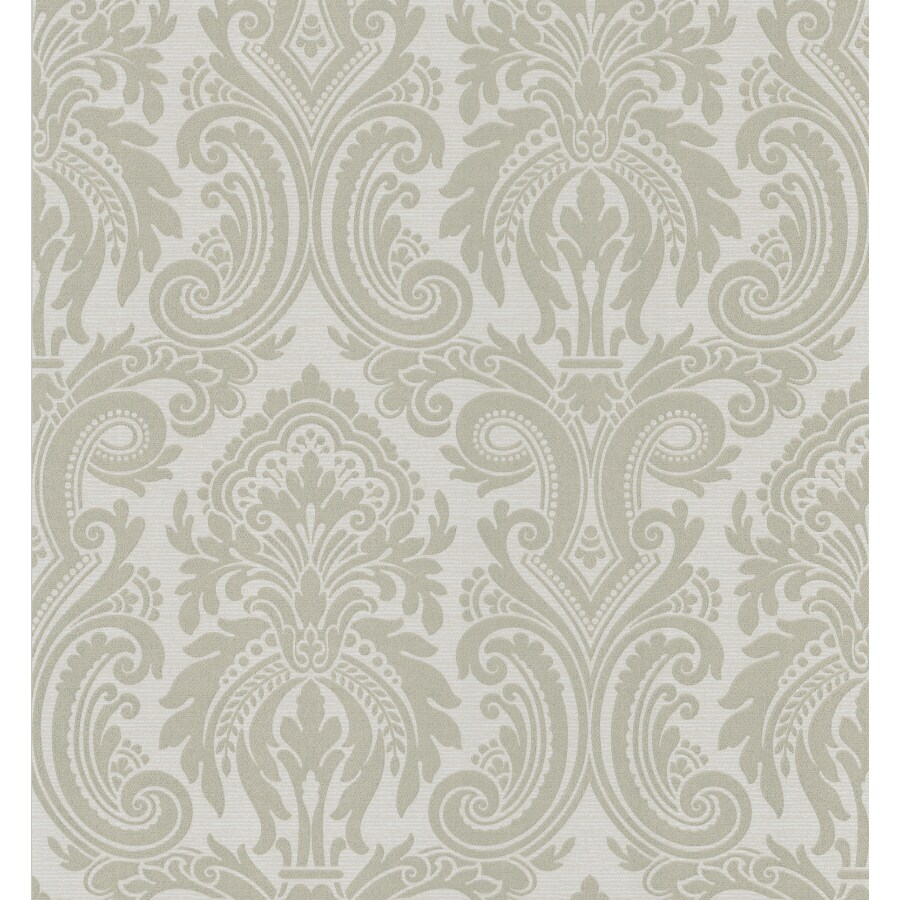 Brewster Wallcovering Metallic Damask Wallpaper