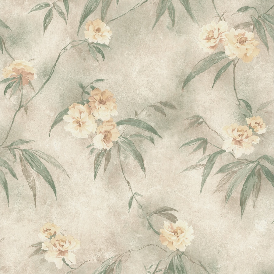 Brewster Wallcovering Cream Classic Floral Wallpaper