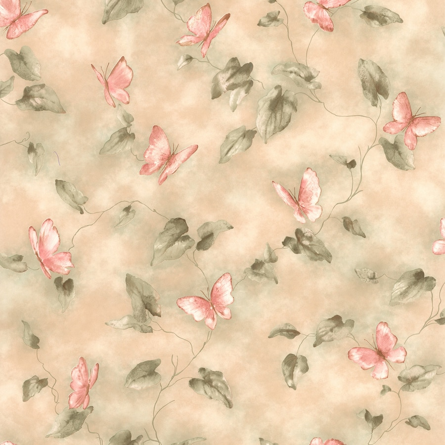 Brewster Wallcovering Kitchen and Bath Resource III Beige Non-Woven Floral Wallpaper