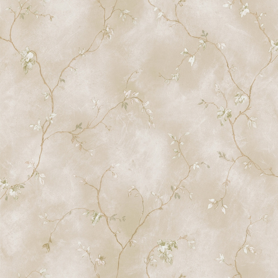 Brewster Wallcovering Beige Classic Ivy/Vines Wallpaper