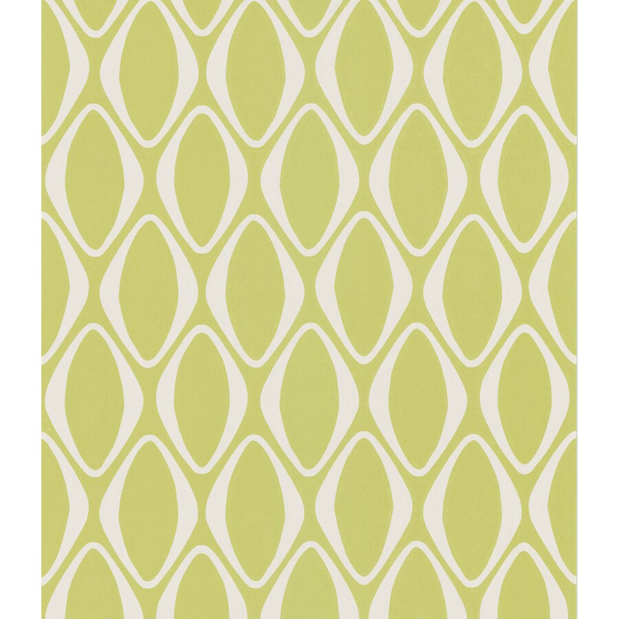 Brewster Wallcovering Spring Green Non-Woven Geometric Wallpaper