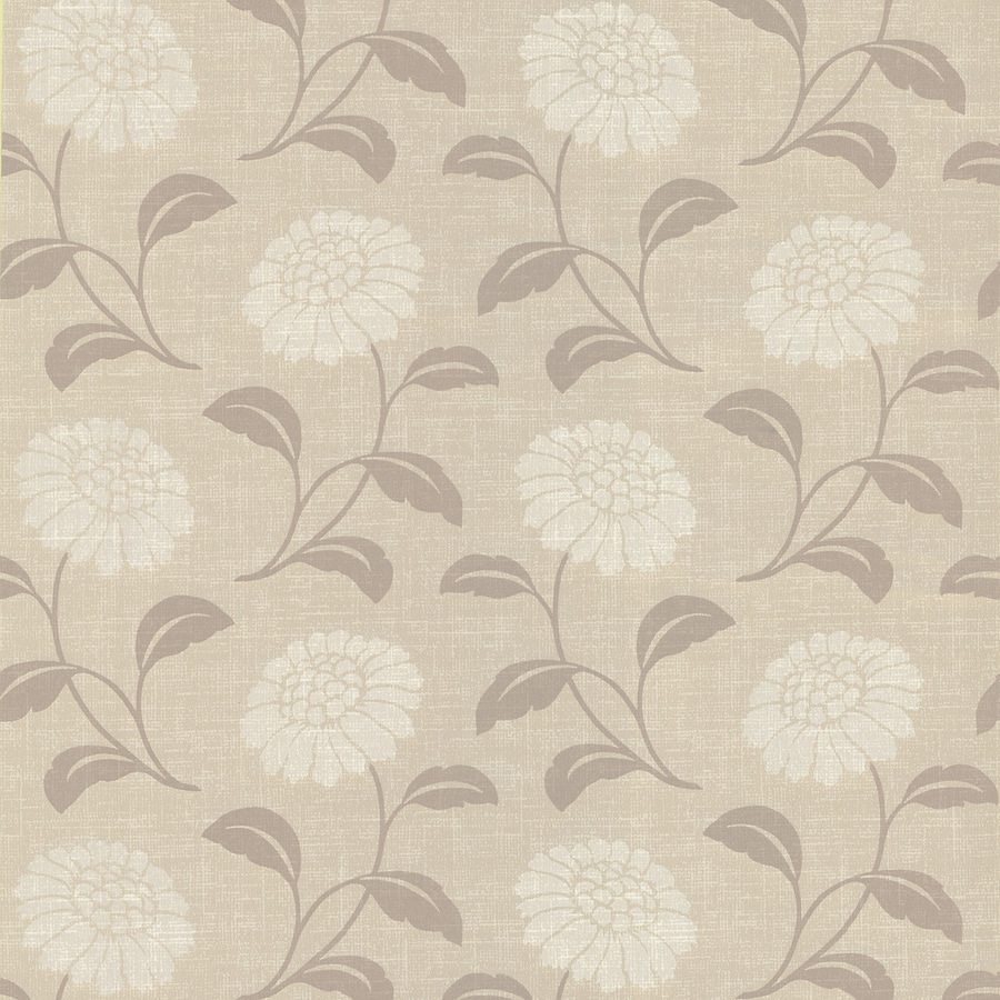 Brewster Wallcovering Brown Classic Floral Wallpaper