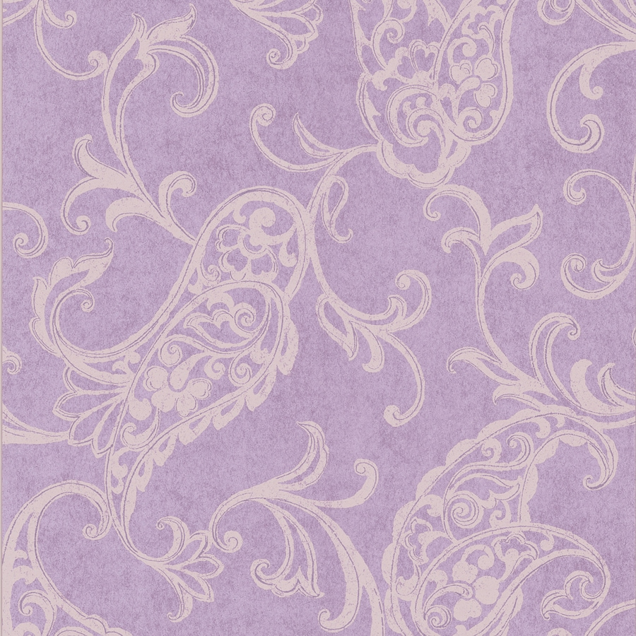 Brewster Wallcovering Lilac Non-Woven Paisley Wallpaper