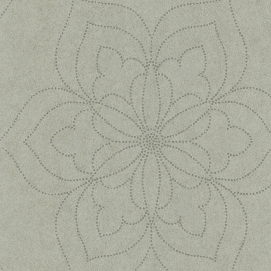 Brewster Wallcovering Silver Non-Woven Geometric Wallpaper