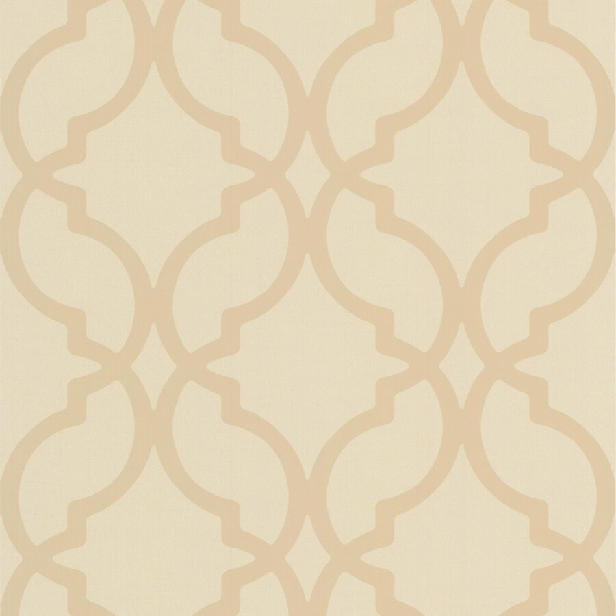 Brewster Wallcovering Beige Non-Woven Geometric Wallpaper