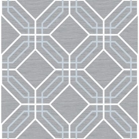 Scott Living 30.75-sq ft Blue Vinyl Textured Geometric 3D Self-Adhesive Peel and Stick Wallpaper
